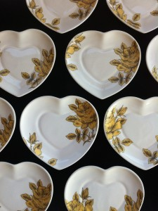 Golden Rose Heart plate limited edition 2015