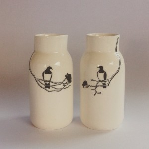 Bottle with Kereru and Beech trees