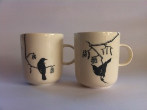 Mug with Tui bird and Kowhai tree